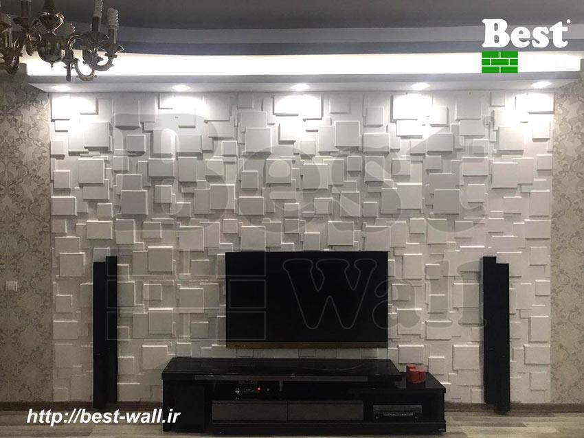 دکور دیوار تلویزیون با پنل دکوراتیو