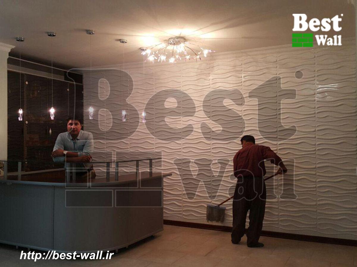 دیوار پوش سه بعدی ویلا