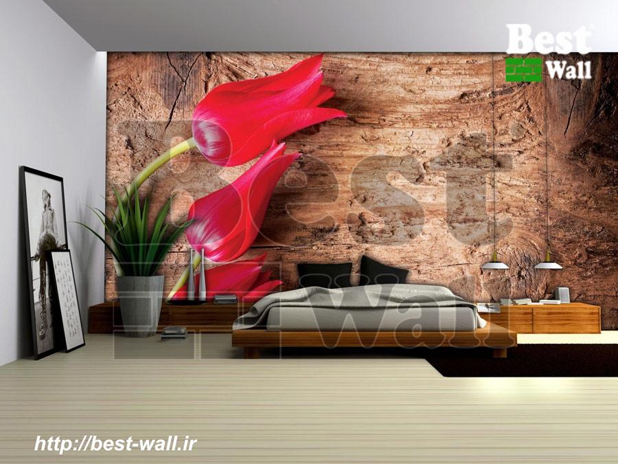 کاغذ دیواری سه بعدی اتاق خواب بست وال