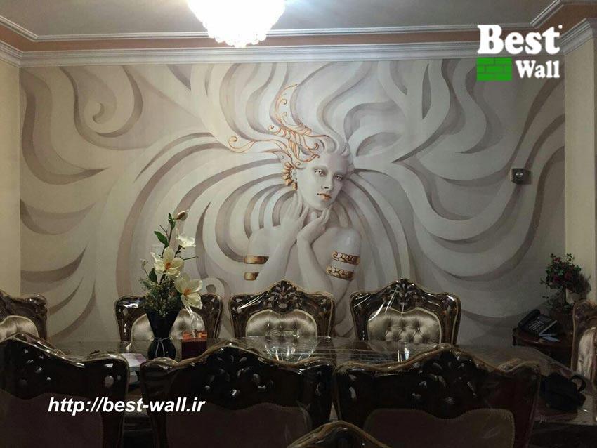 کاغذ دیواری و پوستر سه بعدی زن فرشته