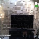 طراحی دیوار پشت تلویزیون با دیوارپوش دکوراتیو