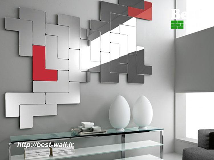 آینه طرح دار جهت دکور دیوار