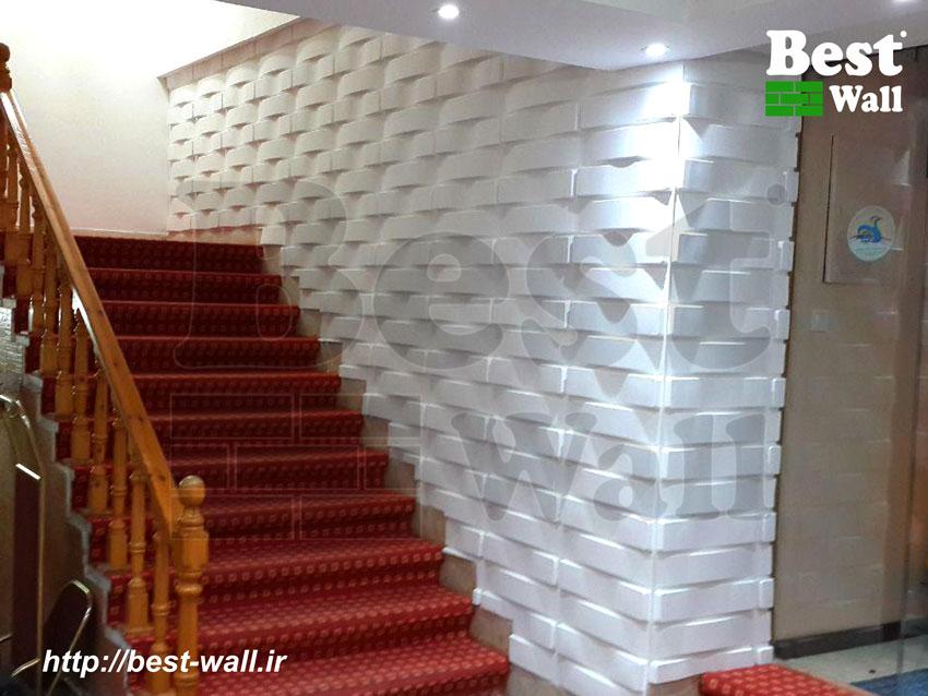 دیوارپوش سه بعدی طرح حصیر
