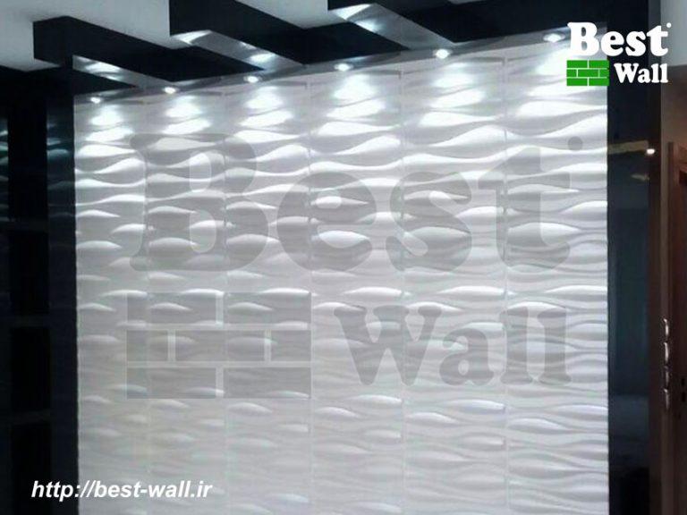 دیوار تلویزیون طرح ماکو و قاب های گلاس