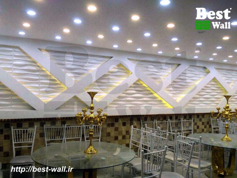 طراحی دیوار با دیوارپوش سه بعدی، کناف و نورپردازی