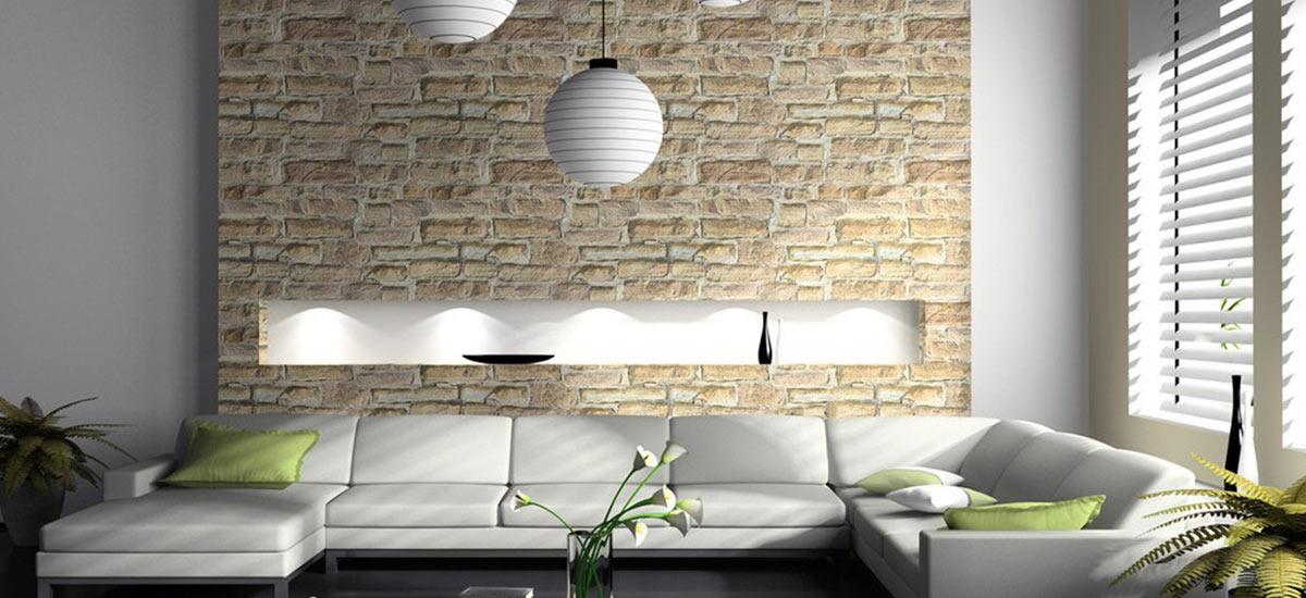 طراحی و تزئین دیوار با آجر