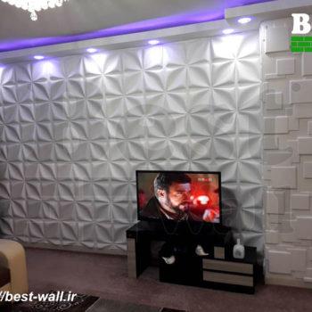 طراحی داخلی منزل با پنل سه بعدی