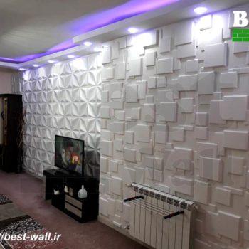 دکوراسیون داخلی با دیوارپوش سه بعدی