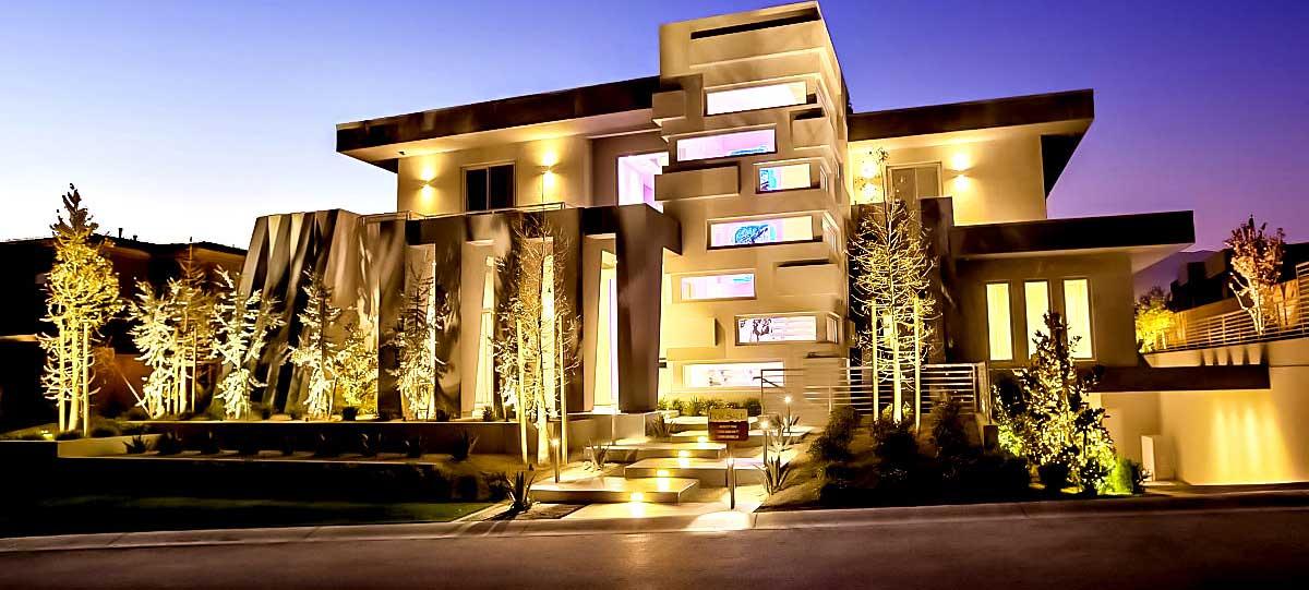 نورپردازی ورودی ساختمان