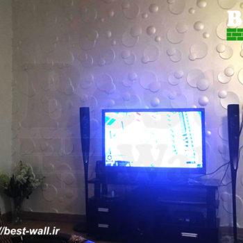 دیوار تی وی با طرح حباب