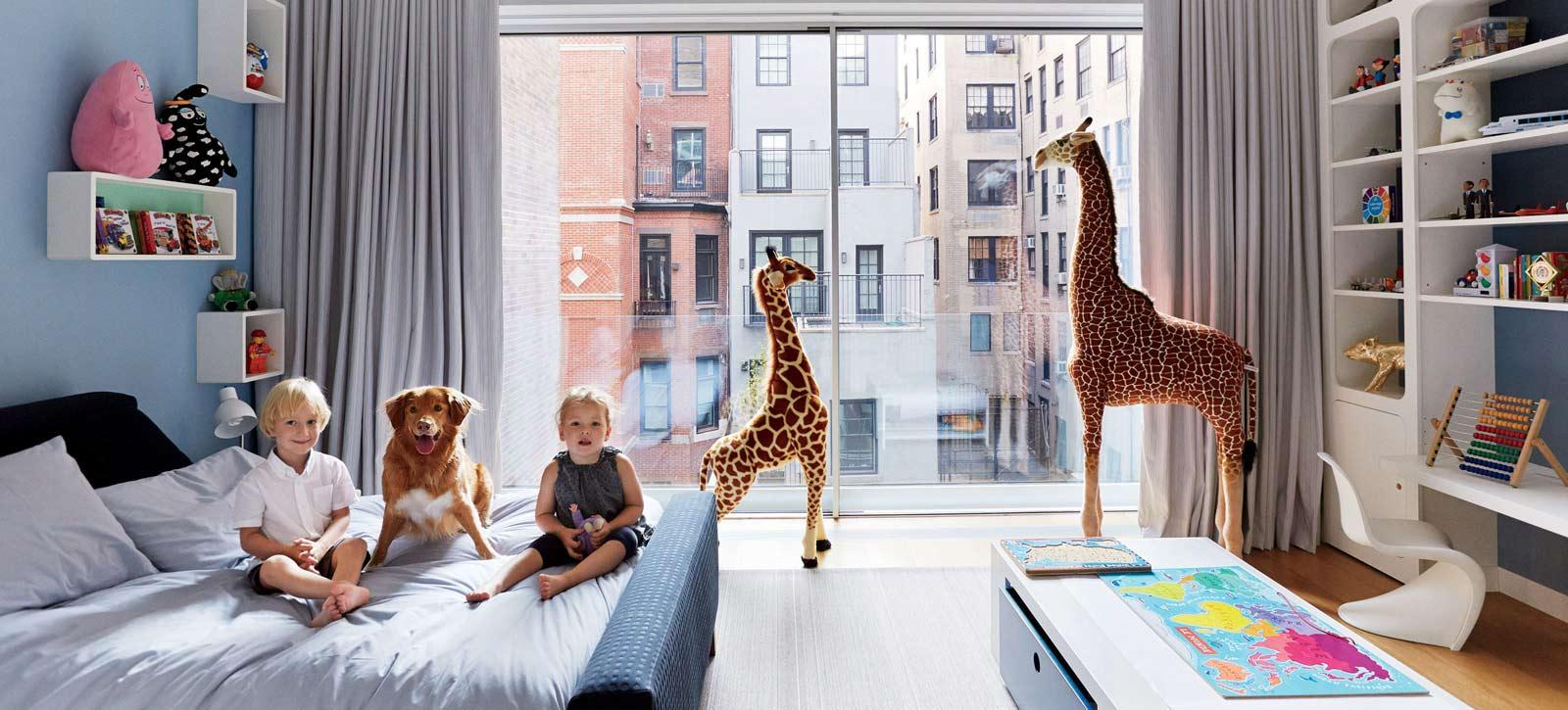 دکوراسیون اتاق خواب مشترک دو فرزند