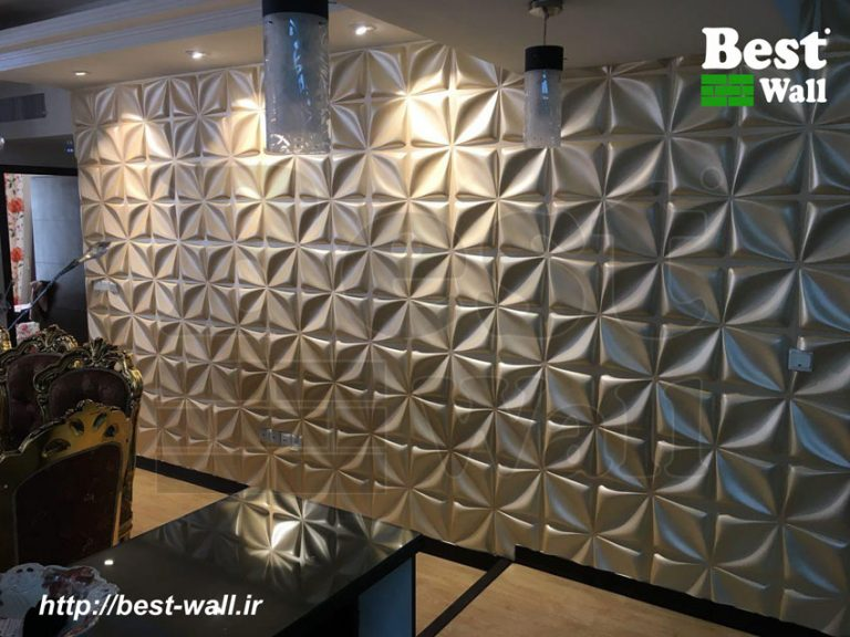 دیوارپوش سه بعدی طرح چهارپر