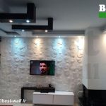 دیوار تلویزیون با پنل دکوراتیو