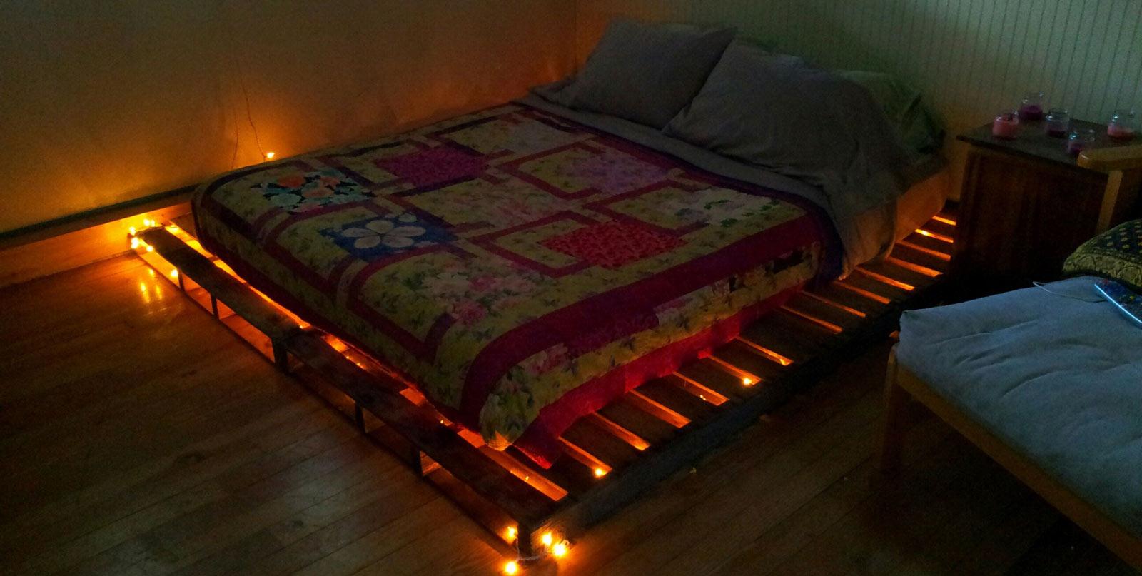 ساخت تختخواب ارزان با پالت های چوبی!