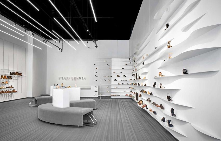 طراحی دکوراسیون ویترین فروشگاه کفش