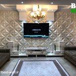 اجرای دیوار تلویزیون با پنل دکوراتیو