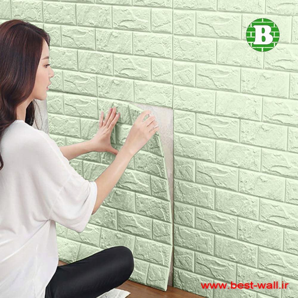 کاغذ دیواری فومی چسبدار طرح آجر