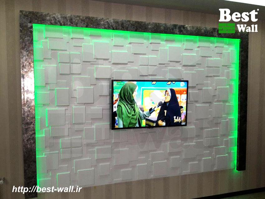 تلویزیون روی دیوار