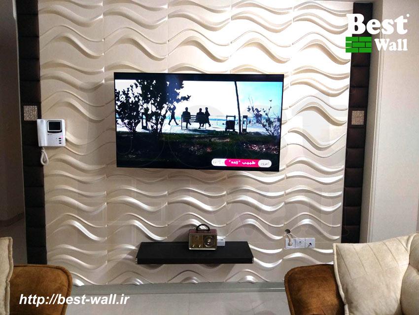 دیوار تلویزیون و شلف